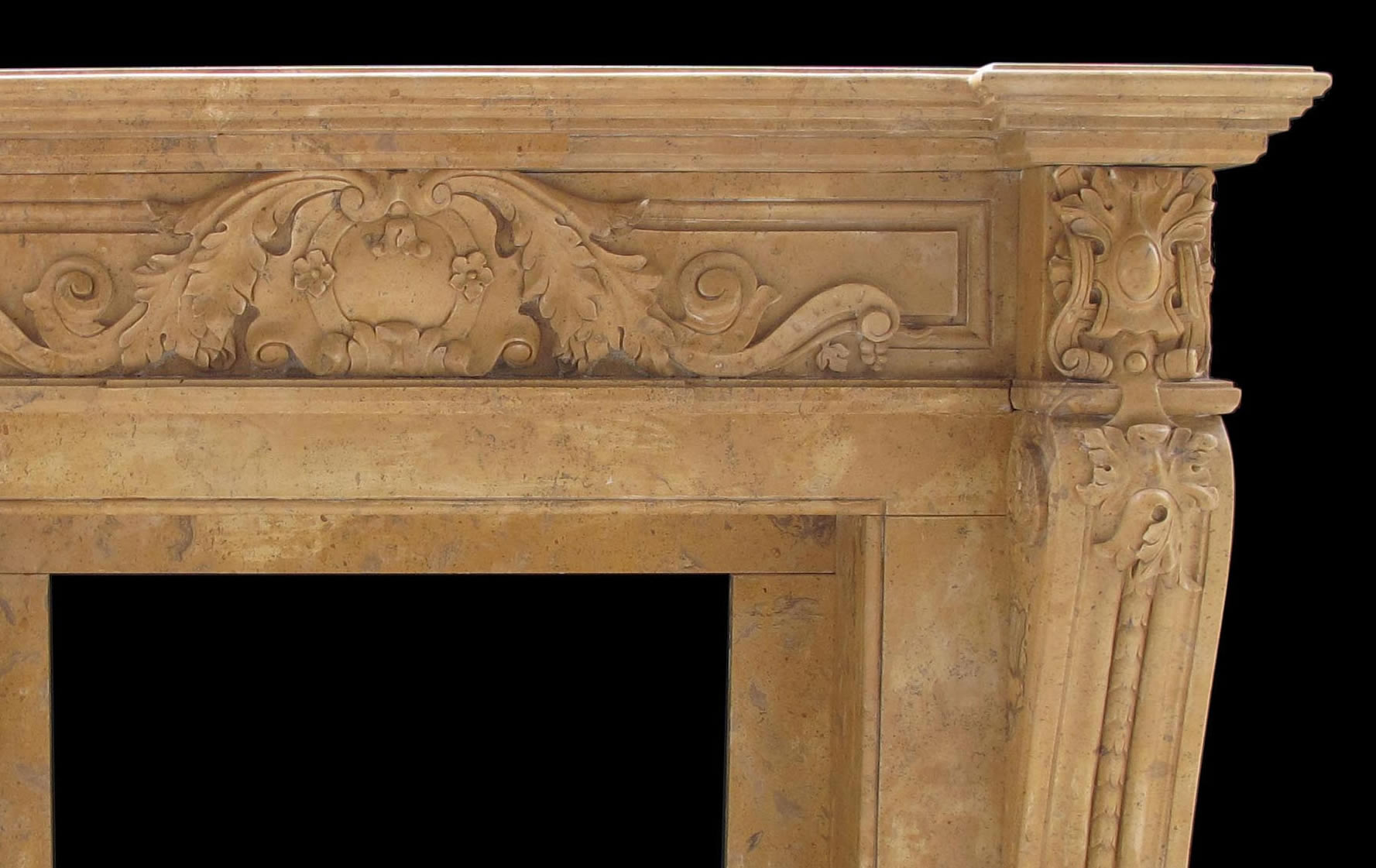 verona antique beige marble fireplace antique french