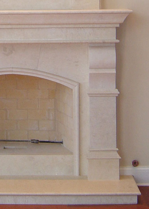 marble mantel and corbel fireplaces