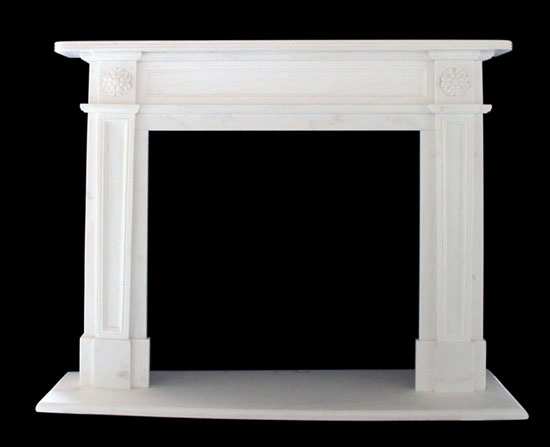 English Regent Marble Fireplace For Sale White Mantels Traditional