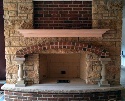 Brick Fireplace Surround Stone