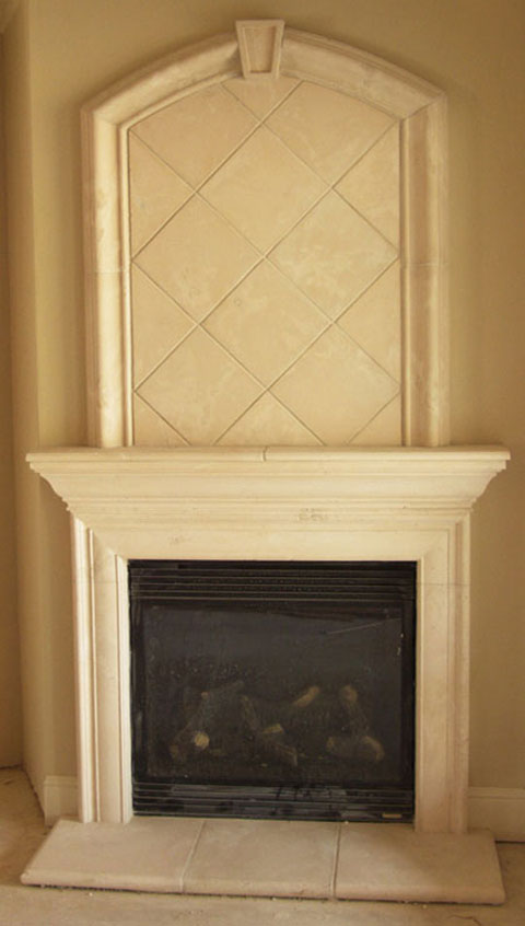 Memphis Cast Stone Fireplace With Overmantel Fireplaces