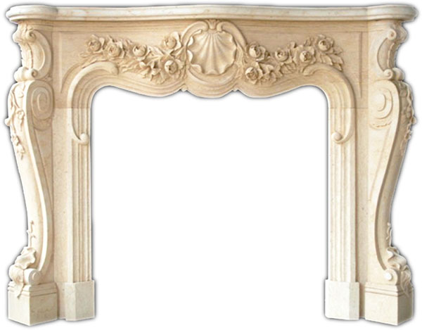 Victoria French Marble Fireplace Mantel Hand Carved Marble