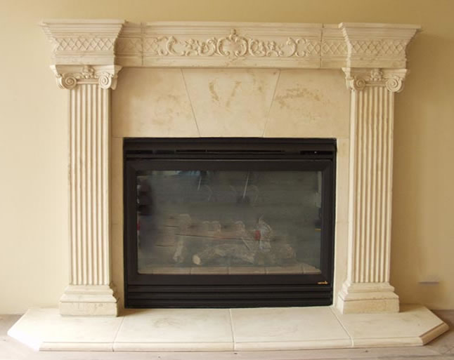 Cast Stone Fireplace Mantels | Pre-cast Surrounds | Faux